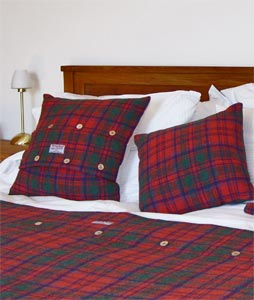 Beds with Harris Tweed covers