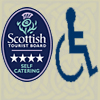 Visit Scotland logo 4 star with disabled ranking